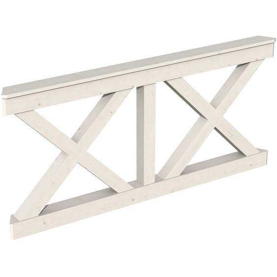 Skan Holz Brüstung Andreaskreuz 180 x 84 cm Fichte Weiß