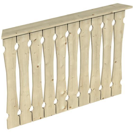 Skan Holz Brüstung Balkonschalung 120 x 96 cm Fichte Natur