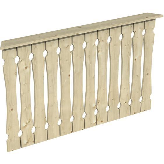 Skan Holz Brüstung Balkonschalung 150 x 96 cm Fichte Natur
