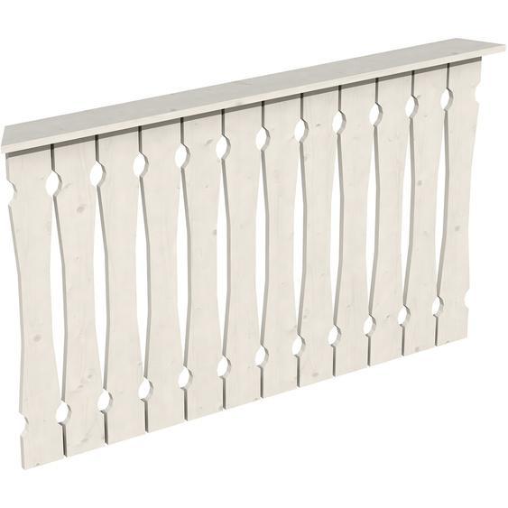 Skan Holz Brüstung Balkonschalung 150 x 96 cm Fichte Weiß