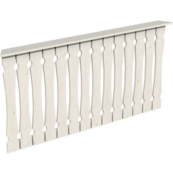 Skan Holz Brüstung Balkonschalung 180 x 96 cm Fichte Weiß