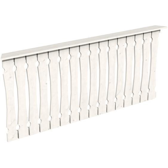 Skan Holz Brüstung Balkonschalung 210 x 96 cm Fichte Weiß