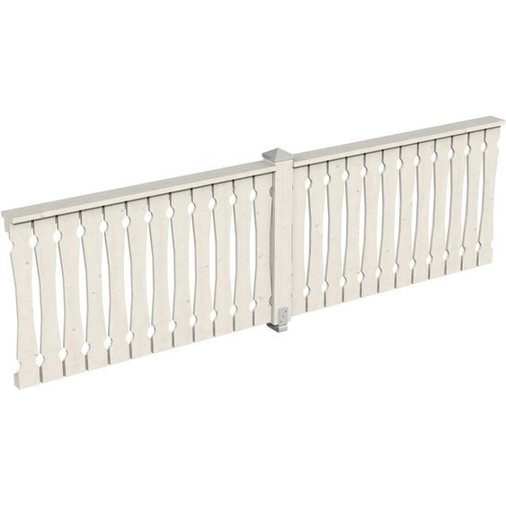 Skan Holz Brüstung Balkonschalung 335 x 96 cm Fichte Weiß