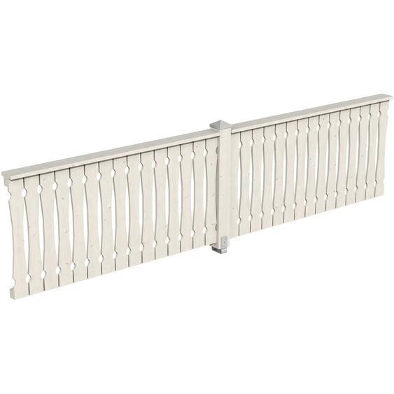 Skan Holz Brüstung Balkonschalung 400 x 96 cm Fichte Weiß