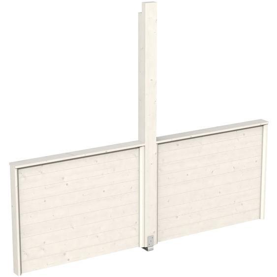 Skan Holz Brüstung für Pavillon Toulouse 270 x 106 cm Weiß