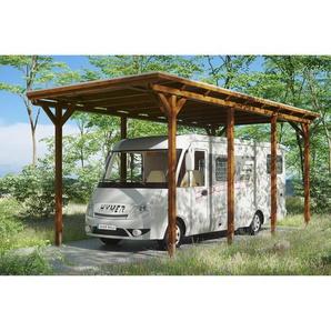 SKANHOLZ Caravan-Carport Emsland  404 x 846 cm nussbaum