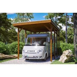 SKANHOLZ Caravan-Carport Friesland  397 x 555 cm nussbaum