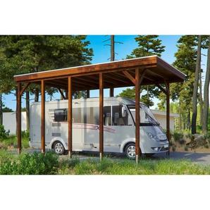 SKANHOLZ Caravan-Carport Friesland  397 x 708 cm nussbaum