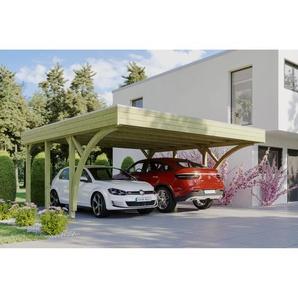 SKANHOLZ Carport Friesland Set 8 mit 2 Einfahrtsbögen 557 x 555 cm imprägniert
