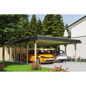 SKANHOLZ Carport Spreewald schwarze Blende  585 x 893 cm imprägniert