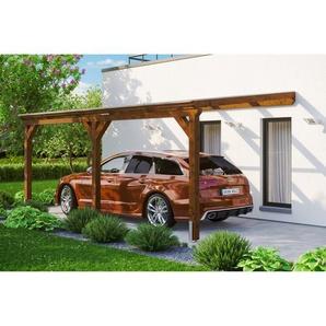 SKANHOLZ Carport Vogtland  300 x 541 cm nussbaum