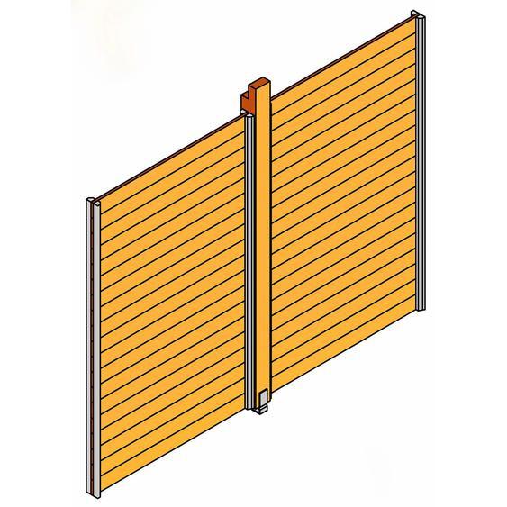 Skan Holz Seitenwand für Pavillon Toulouse unbehandelt 270 cm x 209 cm