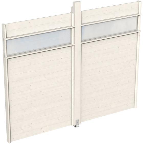 Skan Holz Wand für Pavillon Toulouse 270 x 209 cm mit Lichtband Weiß