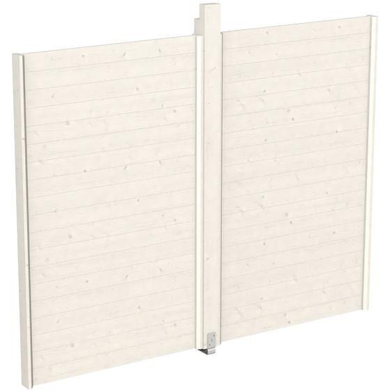 Skan Holz Wand für Pavillon Toulouse 270 x 209 cm Weiß