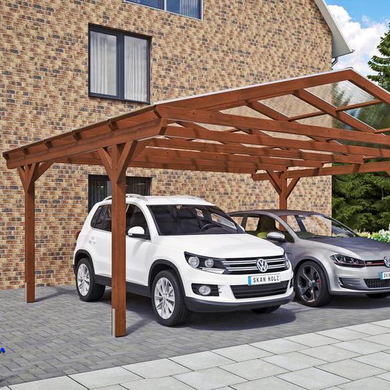 Auto-Unterstand »Westerwald«, Skanholz, braun, Material Fichtenholz