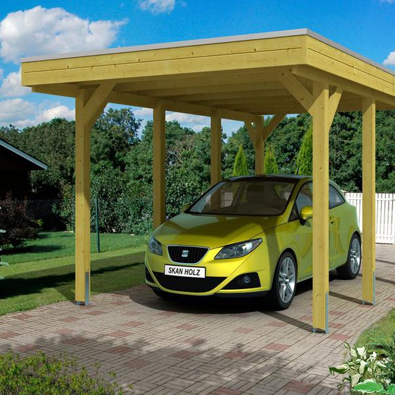 Carport »Friesland«, Skanholz, Material Holz, Aluminium