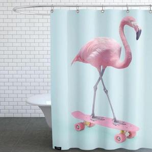 Skate Flamingo-Duschvorhang