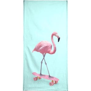 Skate Flamingo - Handtuch