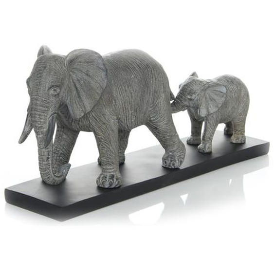 Skulptur Grau ca. 49,1cm (L) x 12,2cm (B) x 21,7cm (H)