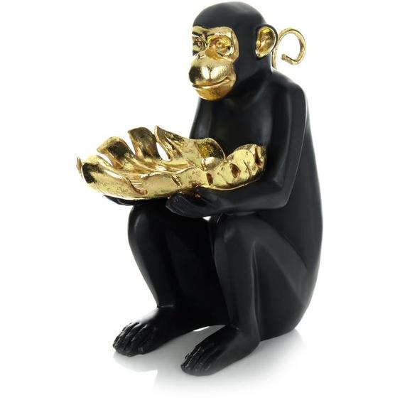 Skulptur Gold Schwarz ca. 28,6cm (L) x 15,1cm (B) x 31,3cm (H)