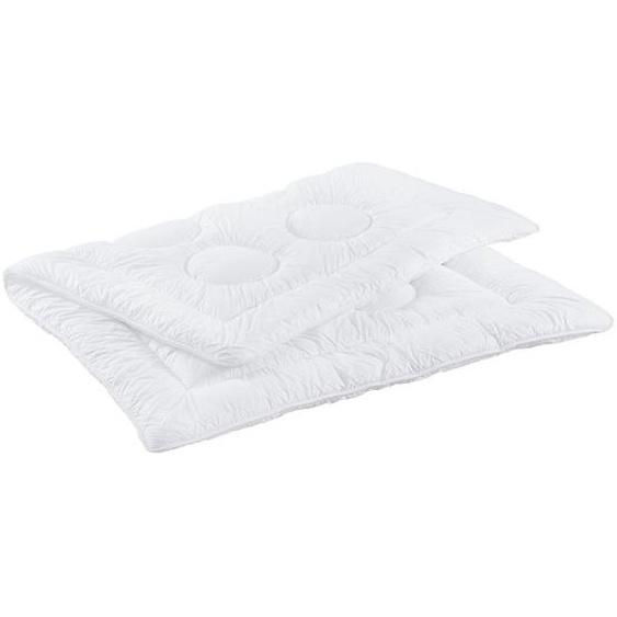 Sleeptex Ganzjahresbett 200/200 cm , Weiß , Textil , 200 cm