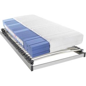 Sleeptex Matratzenset , 2-teilig , H2 , Höhe ca. 19 cm , 90x200 cm , Härtegradauswahl, Bezug abnehmbar/waschbar, Ober- und Unterseite versteppt, für Hausstauballergiker geeignet, verstellbare Lattenroste aktive Schulterzone,Schulterabsenkung,