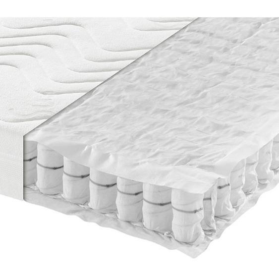 Sleeptex Taschenfederkernmatratze Höhe ca. 16 cm , Weiß , Textil , H3=fest ab ca.80kg , 90x200 cm