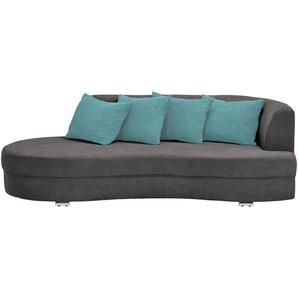 smart Big Sofa dunkelgrau - Flachgewebe Marina ¦ grau ¦ Maße (cm): B: 211 H: 69 T: 109