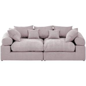 smart Big Sofa  Lionore ¦ rosa/pink ¦ Maße (cm): B: 242 H: 86 T: 121