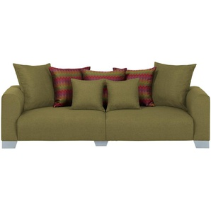 smart Big Sofa  Tonja ¦ grün ¦ Maße (cm): B: 244 H: 68 T: 107