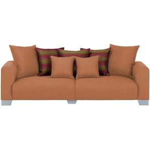 smart Big Sofa  Tonja ¦ orange ¦ Maße (cm): B: 244 H: 68 T: 107