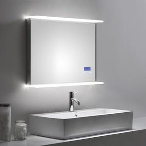 Smart Home LED Spiegel 80x60 cm mit Touch Bedienung