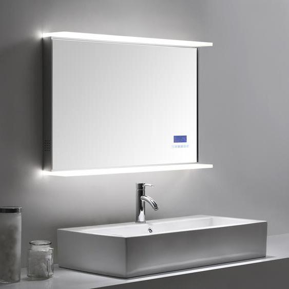 Smart Home LED Spiegel 90x60 cm mit Touch Bedienung