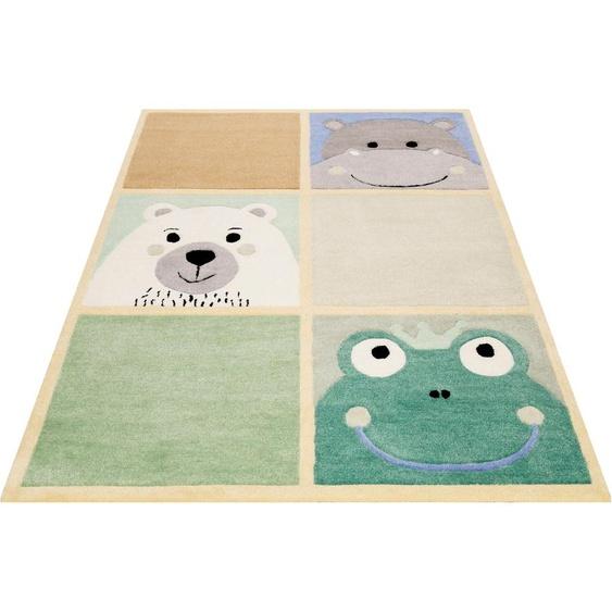 SMART KIDS Kinderteppich Whats Up, rechteckig, 9 mm Höhe, Kinder Tier Motive, Konturenschnitt 31, 130x190 cm, braun Kinderteppiche mit Motiv Teppiche