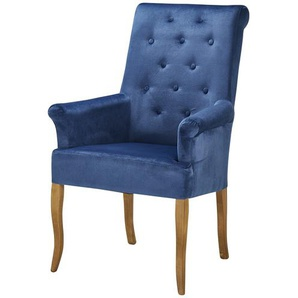 smart Armlehnstuhl  Nora ¦ blau ¦ Maße (cm): B: 78 H: 105 T: 62 Stühle  Esszimmerstühle  Esszimmerstühle mit Armlehnen » Höffner