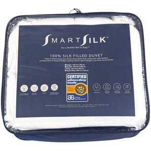 Smart Silk Premium weiße Bettdecke – atmungsaktive Materialien, um Sie die ganze Nacht kühl und trocken zu halten (King-Size), Seide