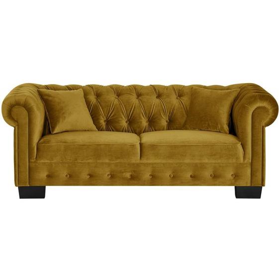 smart Sofa gelb - Velours Chelli ¦ gelb