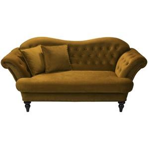 smart Sofa ocker - Mikrofaser Sissi ¦ gelb ¦ Maße (cm): B: 198 H: 93 T: 104 Polstermöbel  Sofas  2-Sitzer » Höffner