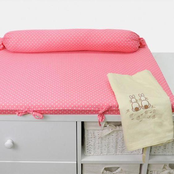 smarTrike Wickelauflage toTs Wickelmatte Joy Rabbit pink, mit Rolle B/L: 100 cm x 80 rosa Baby Wickelauflagen wickeln
