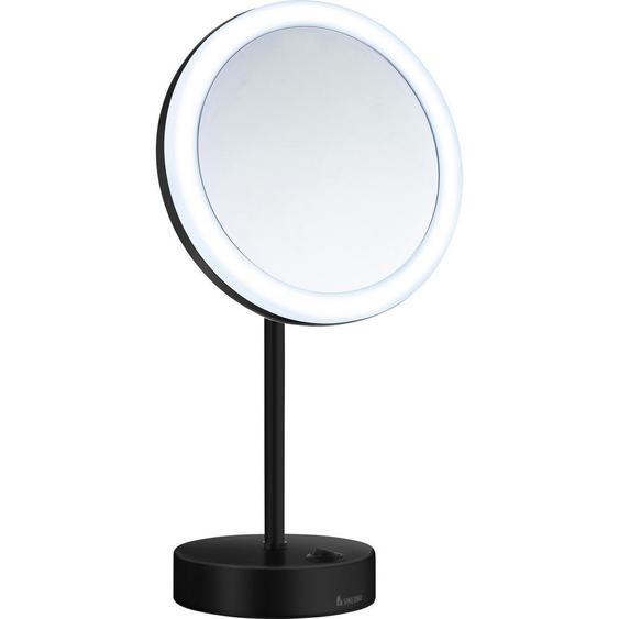 Smedbo Kosmetikspiegel , Schwarz, Chrom , Metall, Glas , 38 cm