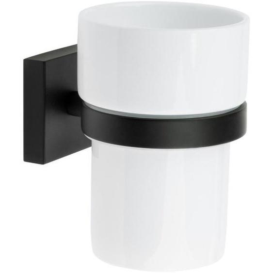 Smedbo Zahnputzbecher , Weiß , Metall, Keramik , 7.5x9.8x9.3 cm