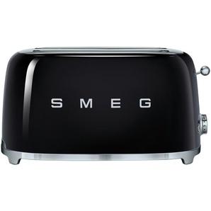 smeg 4-Scheiben-Toaster  TSF02BLEU - schwarz - Edelstahl - 39,4 cm - 21,5 cm - 20,8 cm | Möbel Kraft