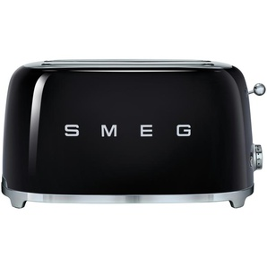 smeg 4-Scheiben-Toaster  TSF02BLEU ¦ schwarz ¦ Edelstahl ¦ Maße (cm): B: 39,4 H: 21,5 T: 20,8
