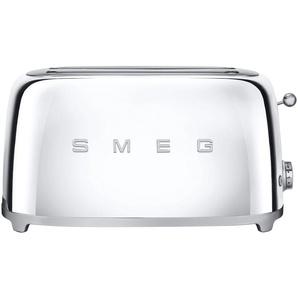 smeg 4-Scheiben-Toaster  TSF02SSEU ¦ silber ¦ Edelstahl ¦ Maße (cm): B: 39,4 H: 21,5 T: 20,8