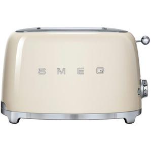 smeg Toaster  TSF01CREU ¦ creme ¦ Edelstahl ¦ Maße (cm): B: 31 H: 19,8 T: 19,5