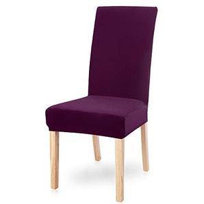 Snewvie Velvet Stuhlhussen Universal Stretch Esszimmerstuhl Hussen Moderne Spandex Stuhlbezug Stuhlüberzug Stretchhusse Abdeckung für Stuhl, 1pc/2pcs/4pcs/6pcs
