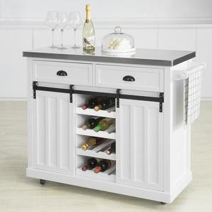 Sobuy Design Küchenwagen Mit Flaschenablage Küchenschrank Kücheninsel