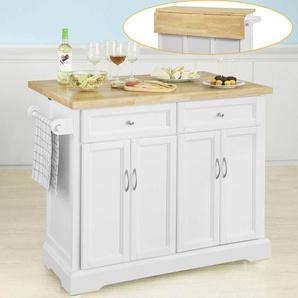 Sobuy Kücheninsel Küchenwagen(erweiterbare Arbeitsplatte)