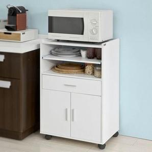 Sobuy® Küchenschrank, Küchenwagen, Rollschrank,