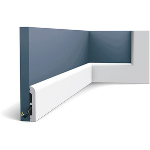 Sockelleiste Orac Decor SX183F AXXENT CASCADE flexible Sockelleiste Wandleiste Zierleiste modernes Design weiß 2 m